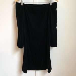 Zara Velvet Off shoulder dress